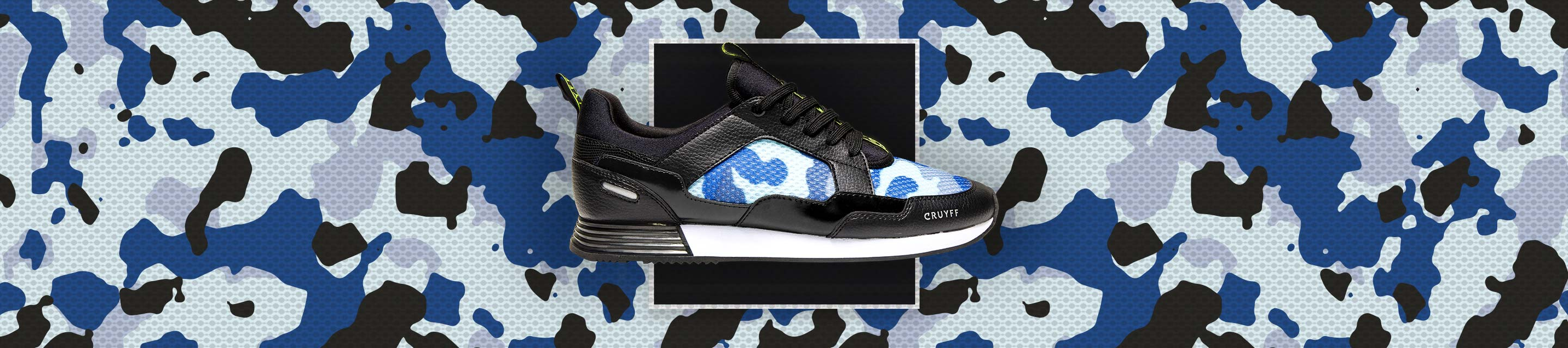 Our favorite silhouettes are refreshed with an audacious camo mesh.